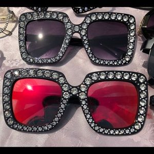 Accessories - Oversized Bling Shades